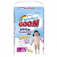 Bỉm quần Goon xách tay Nhật L56 bé gái (9 -14kg)