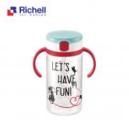 Cốc ống hút Richell (320ml-đỏ) RC41033