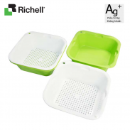 Bộ rổ chậu nhựa kháng khuẩn S (2bộ) Richell