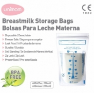 Túi trữ sữa Unimom không BPA 210ml (60 túi/hộp)UM870183