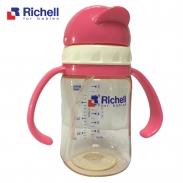 Bình ống hút PPSU Richell (200ml)(hồng) RC99124