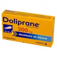 Thuốc hạ sốt doliprane (12kg-16kg) dạng đút hậu môn 200mg