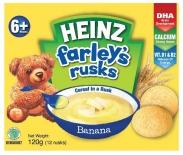 Bánh Ăn Dặm Heinz Farley's Rusks Vị Chuối (120g) (6m+)