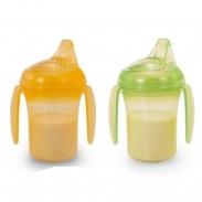 Bộ 2 cốc tập uống chống đổ có quai hữu cơ - UP0189VL