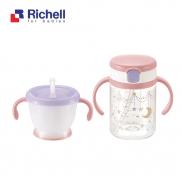 Bộ 2 cốc tập uống Richell (hồng) RC41042