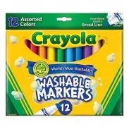 Bộ bút lông nét dày 12 màu cho bé Crayola