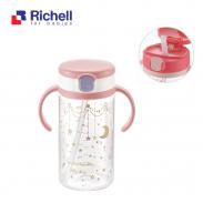 Cốc ống hút Richell (320ml-hồng) RC41032