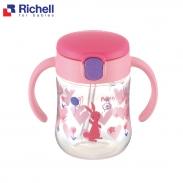 Cốc ống hút T.L.I Richell (hồng) RC21411