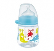 Bình sữa NIP nhựa cổ rộng xanh (150ml) (0m+)