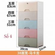 Tủ nhựa 5 tầng 5 ngăn có bánh xe
