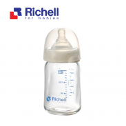 Bình thủy tinh alpha cổ rộng Richell (150ml) RC98144