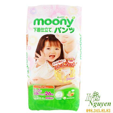 Bỉm Moony size XXL quần bé ...