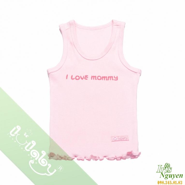 Áo ba lỗ bé gái  hồng Lullaby