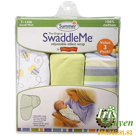 Chăn Cuốn Dệt Summer Infant Swaddle Me