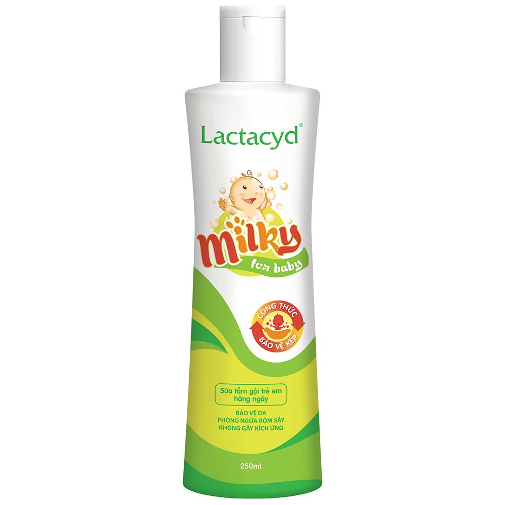 Dầu tắm & gội Lactacyd Milky (250ml)