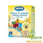 Bột ăn dặm Nestle Nga vị ngũ cốc - chuối, táo 6m+