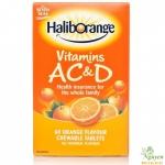 Vitamin Haliborange AC & D dạng viên nén nhai - 60 viên