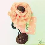 Dây buộc tóc hoa nhựa màu hồng