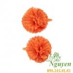 Cặp tóc hoa màu cam