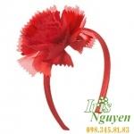Bờm hoa mười giờ màu đỏ cho bé