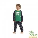 Bộ thun xanh Mother Care bé trai 9 - 18 tháng