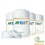 Bộ 4 bình trữ sữa BPA FREE (PP) Avent 125ml