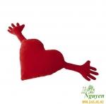 Gối ôm trái tim Ikea