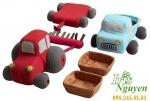 Bộ đồ chơi ô tô bằng bông Ikea