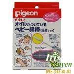 Bông ngoáy tai tẩm dầu Pigeon 0m+