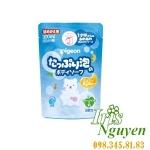 Túi sữa tắm hương táo xanh Pigeon 300ml