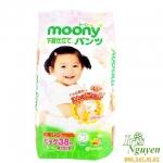 Bỉm Moony size XL38 quần bé gái (12-17kg)