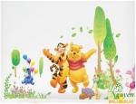 Giấy dán tường Decal Gấu Pooh và bạn hổ ca hát