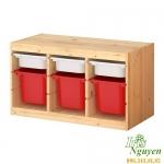 Giá để đồ treo tường Ikea bằng gỗ