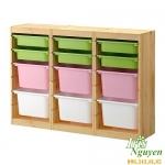 Tủ gỗ để đồ chia ngăn Ikea