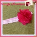 Băng đô hoa màu hồng cho bé