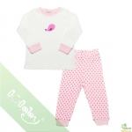 Pijama lullaby bé gái áo trắng quần hồng