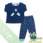 Pijama lullaby bé trai xanh navy