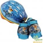 Set mũ bảo hiểm và đệm đầu gối Disney