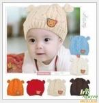 Mũ len đính gấu Hàn MZ1052