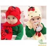 Bộ mũ khăn cánh cam Hàn Quốc