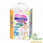 Bỉm Merries quần L56 ( hàng nội địa Nhật ) (9-14kg)