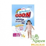 Bỉm dán Goon nội địa Nhật L50 bé gái (9-14kg)