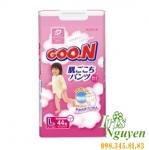 Bỉm quần Goon bé gái L44 (9-14kg) (nội địa Nhật)