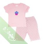 Pijama Lullaby bé gái cộc tay