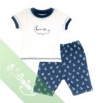 Pijama Lullaby bé trai cộc tay