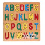 Đồ chơi gỗ bảng nhận dạng chữ cái mỏng