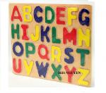 Đồ chơi gỗ bảng nhận dạng chữ cái dầy