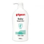 Dầu tắm gội 2 trong 1 Pigeon tinh chất Jojoba (700ml)